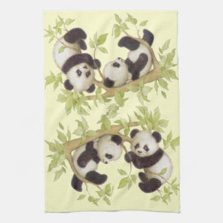 Panda's Playing in a Tree Kitchen Towel