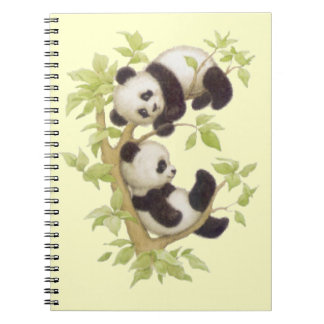 Panda's Playing in a Tree Spiral Notebook