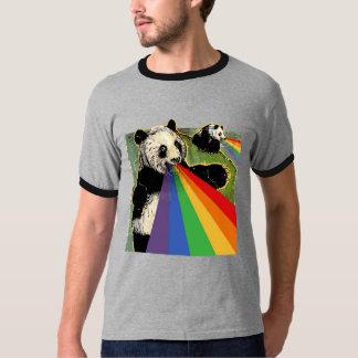 Pandas shooting rainbows from their mouths T-Shirt