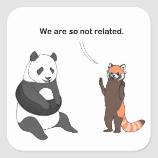 Pandas: So Not Related Sticker