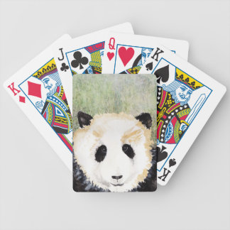 Pandas Watercolour Painting Bicycle Playing Cards