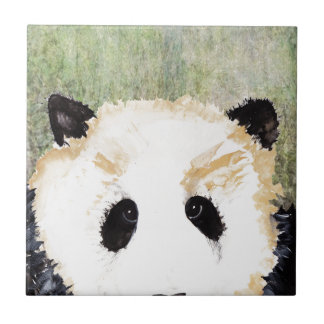 Pandas Watercolour Painting Ceramic Tiles