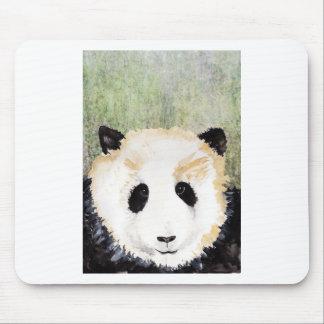 Pandas Watercolour Painting Mouse Pad