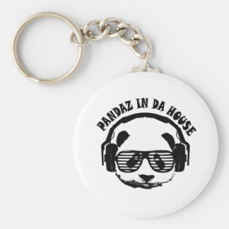 Pandaz In Da House Keychain