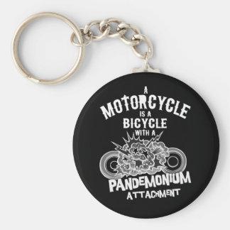 Pandemonium Attachment -bw Keychain