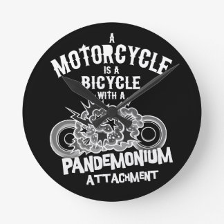Pandemonium Attachment -bw Round Clock