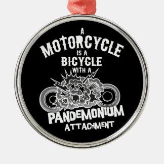 Pandemonium Attachment -bw Silver-Colored Round Ornament