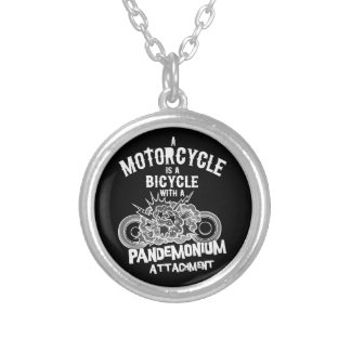 Pandemonium Attachment -bw Silver Plated Necklace