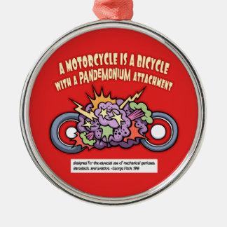 Pandemonium Attachment Silver-Colored Round Ornament