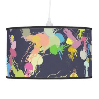 Pandent Lamp - playful jellyfish illustration