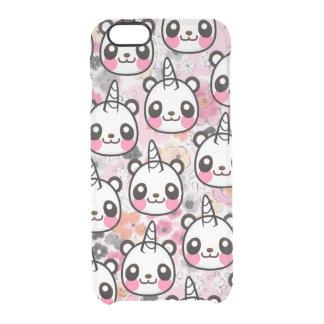 Pandicorn Cute Panda Unicorn Pink Floral Animal Clear iPhone 6/6S Case