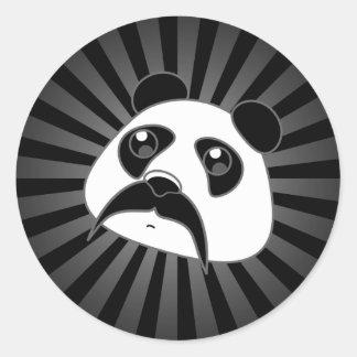 Pandlebar Mustache Round Sticker