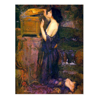 Pandora by John William Waterhouse Postcard