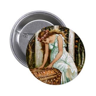 Pandora desires to open the Box Pinback Button