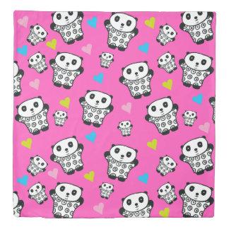 Pandy the Panda Bright Hearts Duvet Cover