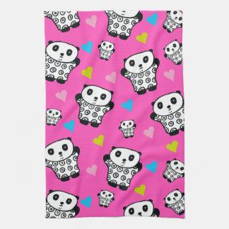 Pandy the Panda Bright Hearts Kitchen Towel