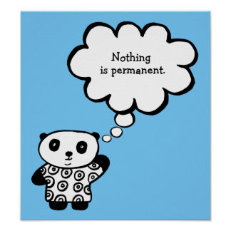 Pandy the Panda Buddhist Permanent Quote Poster