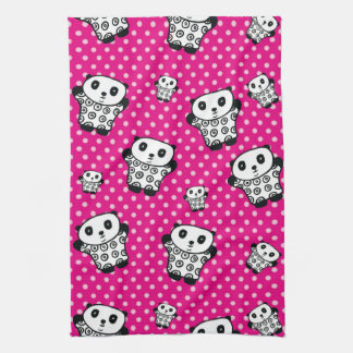 Pandy the Panda Polka Dot Kitchen Towel