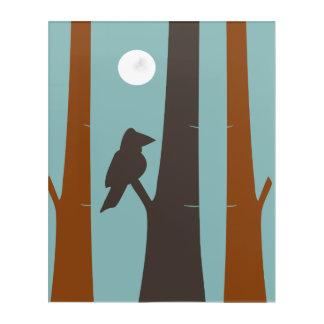 Panel Art Bird On A Tree