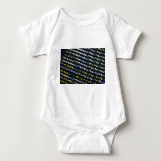 Panel of arrivals of the airport baby bodysuit