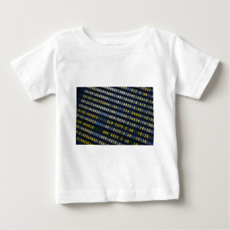 Panel of arrivals of the airport baby T-Shirt