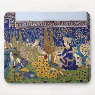 Panel of glazed earthenware tile-work, Isfahan Mouse Pad