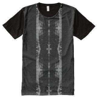 Panel T-Shirt; X-RAY Pattern, Grey