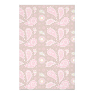 Panels of Pink Paisley Stationery