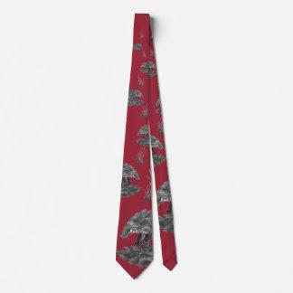Pangolin Neck Tie (dark design)