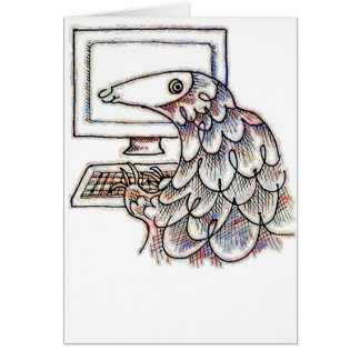 Pangolin on a computer card