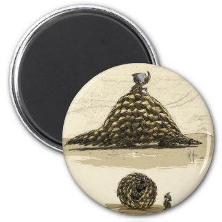 Pangolin Warrior 2 Inch Round Magnet