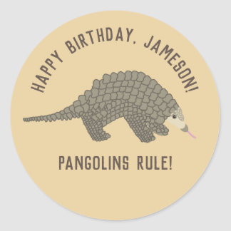Pangolins Personalized Stickers