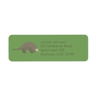 Pangolins Return Address Labels
