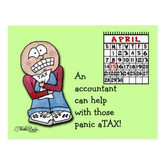 Panic aTAX! Postcard