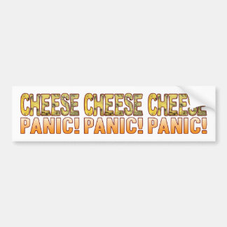 Panic Blue Cheese Bumper Sticker