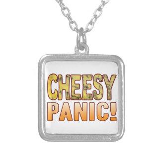Panic Blue Cheesy Silver Plated Necklace