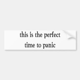 Panic Bumper Sticker
