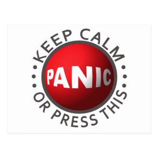 Panic Button custom postcard