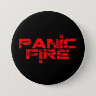 PANIC FIRE overunder red logo 3 Inch Round Button