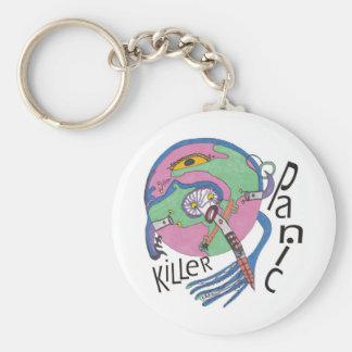 Panic killer basic round button keychain