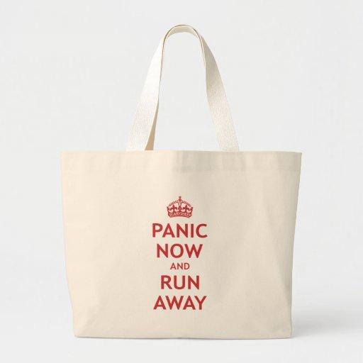 Panic Now and Run Away Jumbo Tote Bag