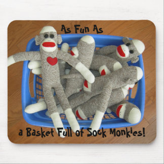 Panier complètement de chaussette Monkies Mousepad Tapis De Souris