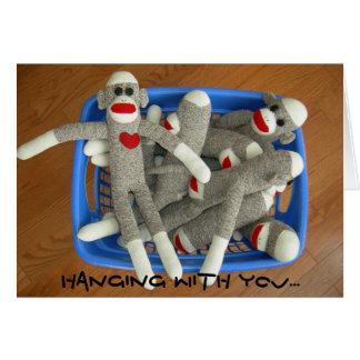 panier de carte de monkies de chaussette