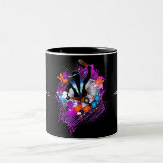 PanMan in Glory (Personalized) Two-Tone Coffee Mug