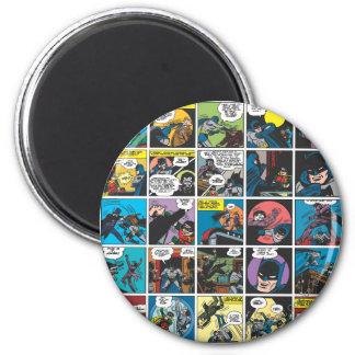 Panneau comique 5x5 de Batman Magnet Rond 8 Cm