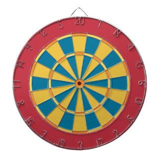 Panneau de dard coloré dans le bleu rouge de jeu de fléchettes
