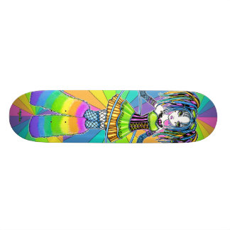 Panneau de patin de féerie de Goth de Cyber d'arc- Skateboards Customisés