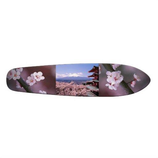 panneau japonais de fleurs de cerisier plateaux de planche. Black Bedroom Furniture Sets. Home Design Ideas