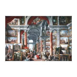 Pannini - Gallery of Views of Modern Rome Canvas Print
