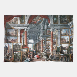 Pannini - Gallery of Views of Modern Rome Towel